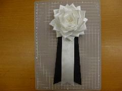 弔用葬儀胸花(5号12cm6個入り)白黒タレ