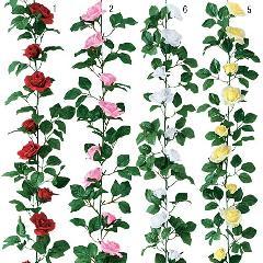 屋内用造花ミニバラガーランド(フレンチローズ・全長180cm/花径4〜7cm)ポリエステル製FLGA7708