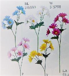1本¥99造花(デージー×6輪単色36本入り)2680
