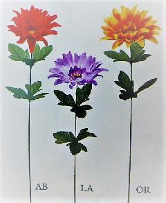 1本¥99造花(ダリア×1輪・単色48本入り)2997