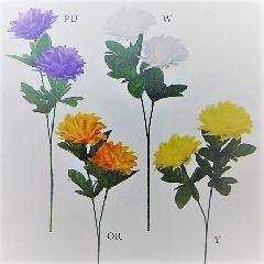 1本¥99造花(ニューダリア×2輪・単色48本入り)2995