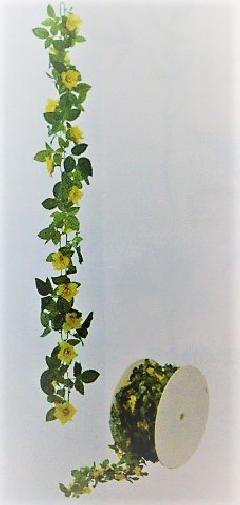 造花つた造花ロールチェーンガーランド30M巻(ローズイエロー)GLA1188A「コンビニ後払いの場合あり