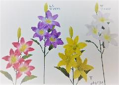 1本¥138造花(サテンリリー×3輪単色36本入り)2588
