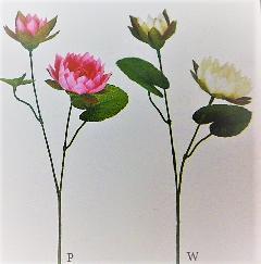 1本¥138造花(ロータス×2輪・単色36本入り)2493