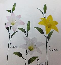 1本¥138造花(マイクロピーチタイガーリリー・単色36本入り)1895