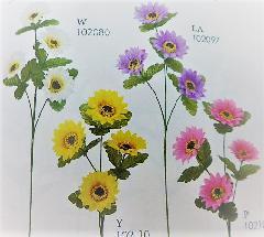 1本¥138造花(デージー×4輪・単色36本入り)197