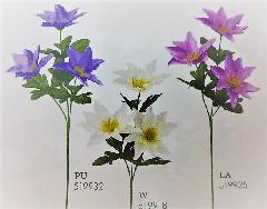 1本¥138造花(クレマチス×3輪・単色36本入り)2990