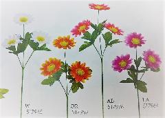 1本¥138造花(ラージデージー×3・単色36本入り)2831
