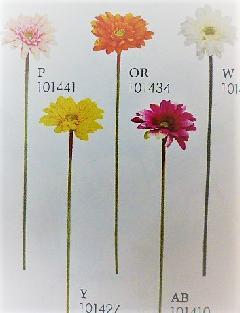 1本¥138造花(ミニガーベラ・単色36本入り)164