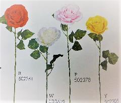 1本¥138造花(ラージシングルローズ・単色36本入り)1259F
