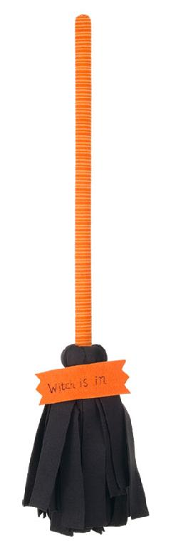 ハロウィンディスプレイ(ハロウィンホウキh70cm)DE1394