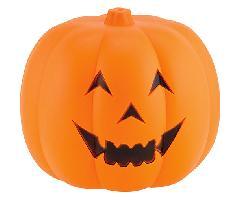屋外使用可)ハロウィンパンプキン(ジャックオーランタン両面顔付き30cm・プラスチック製DE1411S