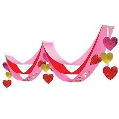 バレンタインハンガー(4)全長180・幅10cm不織布製DEHA9967