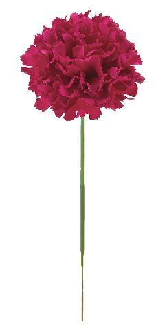 花の日造花カーネーション(ピック24本マルベリー)花径7全長20cmFLP6019