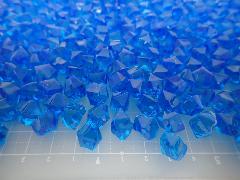 アクリルアイス・ディスプレイアイス・イミテーションアイス・透明石(S・約1cm)コバルト250g約330粒