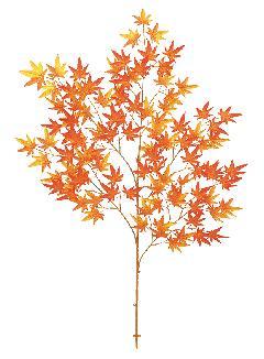 もみじ枝(大・全長110cm・オレンジ)LES5161L