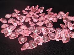 アクリルクリスタルアイス(ハート型ピンク1、7cm約70粒