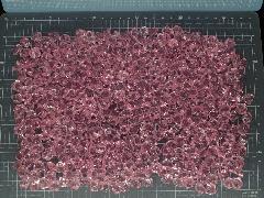 アクリルアイス・ディスプレイアイス・イミテーションアイス・透明石(S・約1cm)ピンク250g約330粒