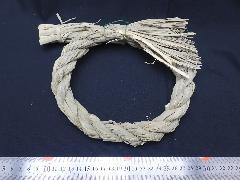 正月飾り・しめ縄リース(M)18cm・自然素材PANP8201