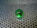 ビー玉・ガラス玉オーロラ(グリーン)」17mm