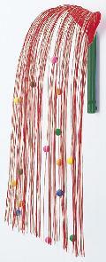 正月飾り・しだれ水引舞い玉飾り(L・赤/白)全高60cmDE0502