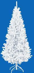 卸販売業務用クリスマスツリー(スリム・ホワイトh210・幅100cm)TXM2040