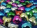 アクリルアイス(メッキハート2.8cm・MIX)250g入り約50粒
