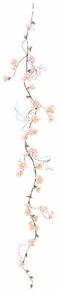 造花桜ガーランド(しだれ桜・全長180cmしだれ部花径1〜4,5cm6本)FLG301