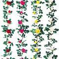 屋内用造花ミニバラガーランド(ローズ・全長180cm/花径6〜10cm)ポリエステル製FLGA7678