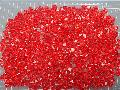 アクリルアイス・ディスプレイアイス・イミテーションアイス・透明石(S・約1cm)レッド250g約330粒