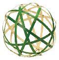 正月飾り(竹毬・30cm)ND1055LL
