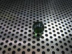 ビー玉・ガラス玉オーロラ12.5mmグリーン