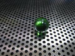 ビー玉・ガラス玉オーロラ17mmグリーン