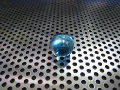 ビー玉・ガラス玉オーロラ17mmブルー