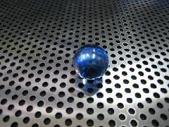 ビー玉・ガラス玉オーロラ17mmコバルト
