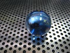 ビー玉・ガラス玉オーロラ25mmコバルト