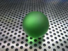 ビー玉・ガラス玉フロスト25mmグリーン