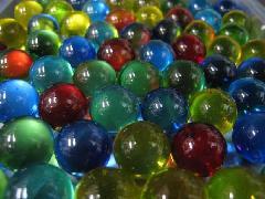 ビー玉・ガラス玉クリアカラー12.5mm×300粒 MIX
