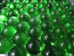 ビー玉・ガラス玉クリアカラー15mm×100粒 グリーン