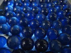 ビー玉・ガラス玉クリアカラー17mm×130粒 コバルト