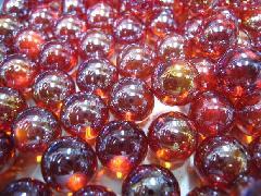 ビー玉・ガラス玉オーロラ12.5mm×300粒 レッド