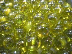 ビー玉・ガラス玉オーロラ12.5mm×300粒 イエロー
