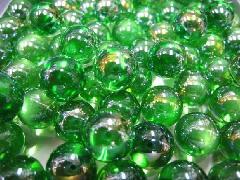 ビー玉・ガラス玉オーロラ17mm×130粒 グリーン