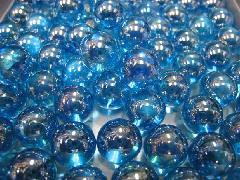 ビー玉・ガラス玉オーロラ17mm×130粒 ブルー