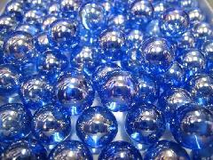 ビー玉・ガラス玉オーロラ17mm×130粒 コバルト