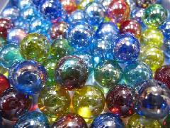 ビー玉・ガラス玉オーロラ17mm×130粒 MIX