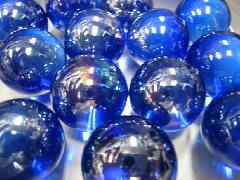 ビー玉・ガラス玉オーロラ25mm×25粒 コバルト