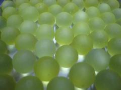 ビー玉・ガラス玉フロスト12.5mm×300粒 イエロー