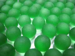 ビー玉・ガラス玉フロスト17mm×130粒 グリーン