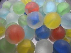 ビー玉・ガラス玉フロストリーフ17mm×130粒